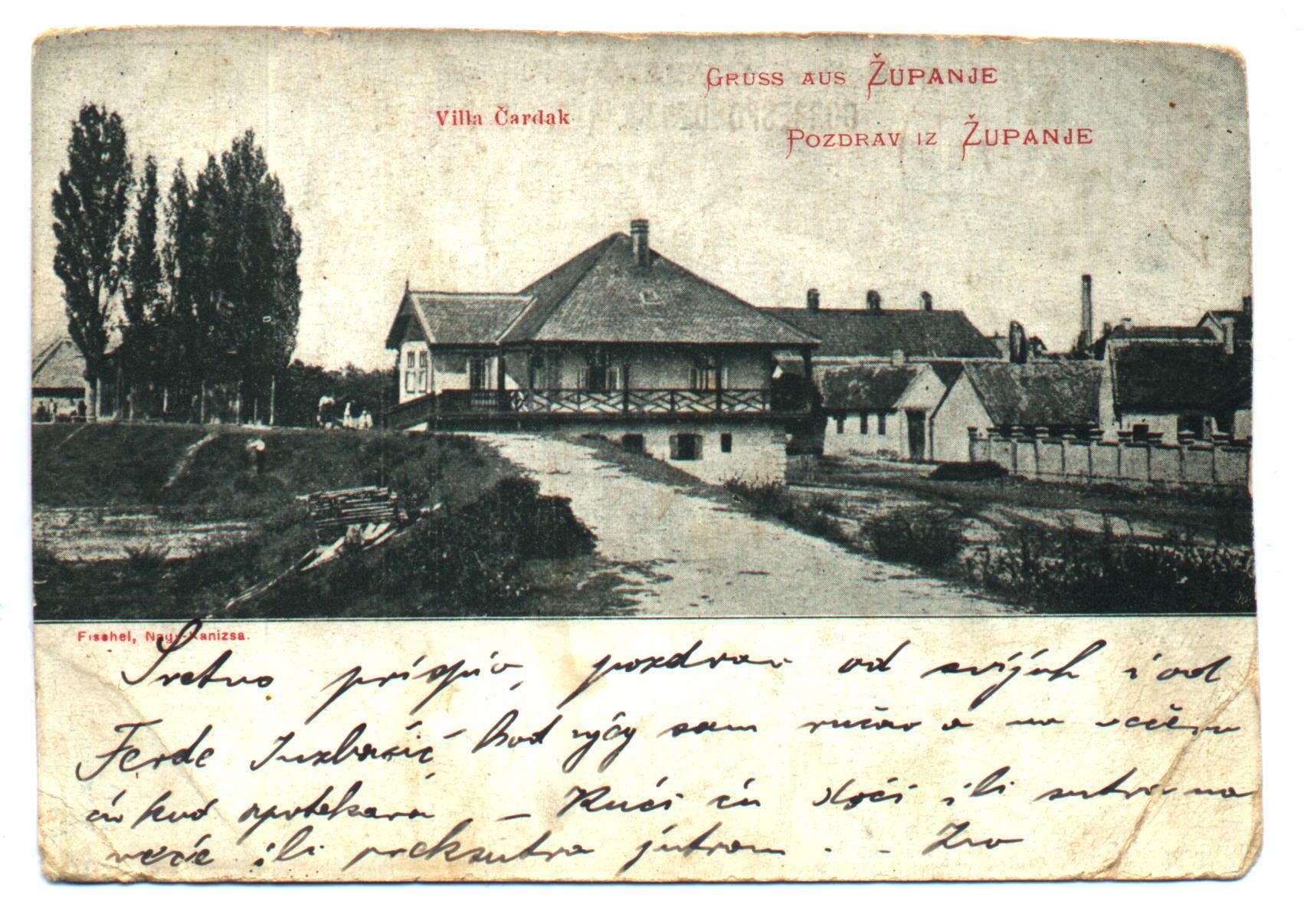 Razglednica Županje 1899, ZMSG Županja