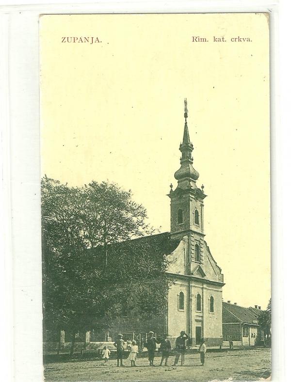 Razglednica crkve u Županji, 1915. godine, ZMSG Županja
